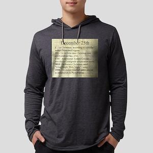 December 25th Mens Hooded Shirt