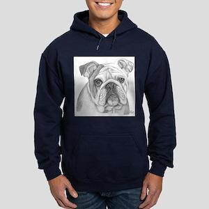 English Bulldog Hoodie (dark)
