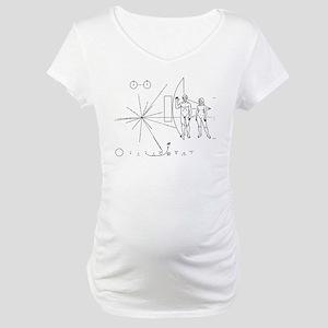 Pioneer Plaque Maternity T-Shirt