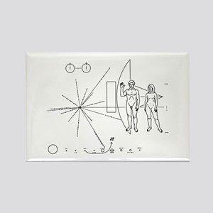 Pioneer Plaque Rectangle Magnet