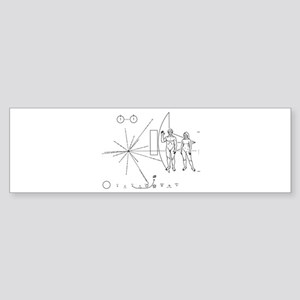 Pioneer Plaque Sticker (Bumper)
