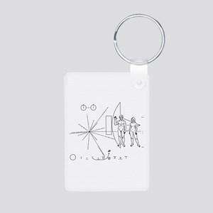 Pioneer Plaque Aluminum Photo Keychain