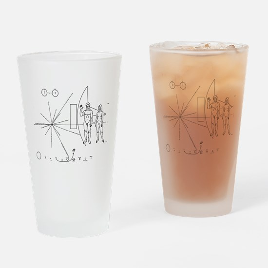 Pioneer Plaque Drinking Glass