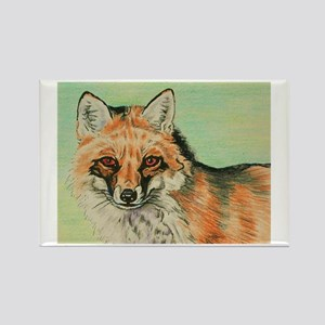 Red Fox headstudy Rectangle Magnet