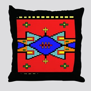 Lakota Dreams Blanket Design Throw Pillow