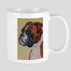 Red Boxer Dog headstudy Mug
