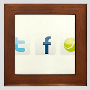 Twitter facebook tennis Framed Tile