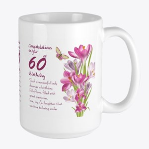 60th Birthday Greeting Gift Mug Mugs