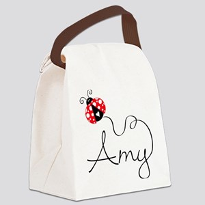 Ladybug Amy Canvas Lunch Bag