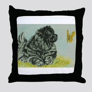 Chow Chow Dog with Butterfly Throw Pillow