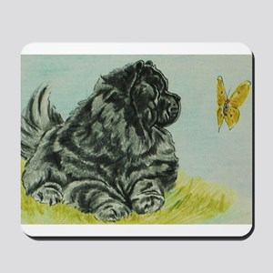 Chow Chow Dog with Butterfly Mousepad