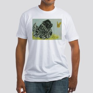 Chow Chow Dog with Butterfly Fitted T-Shirt