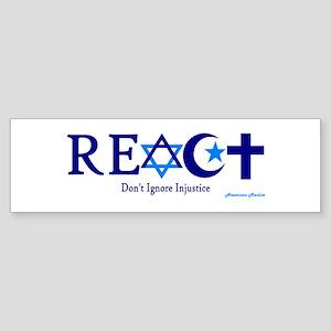 reACT Bumper Sticker
