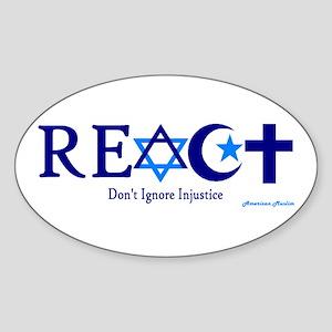 reACT Oval Sticker