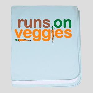 Runs on Veggies baby blanket