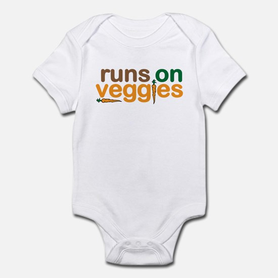 Runs on Veggies Infant Bodysuit