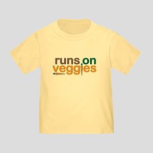 Runs on Veggies Toddler T-Shirt