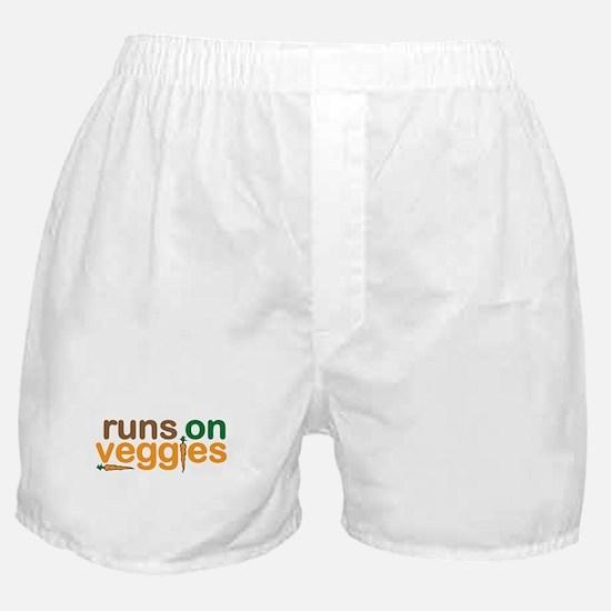 Runs on Veggies Boxer Shorts