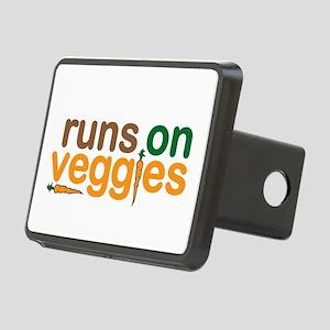 Runs on Veggies Rectangular Hitch Cover