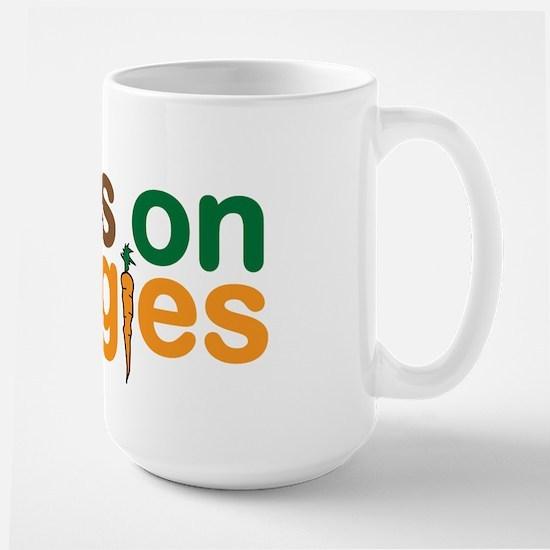 Runs on Veggies Large Mug