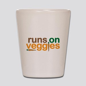 Runs on Veggies Shot Glass