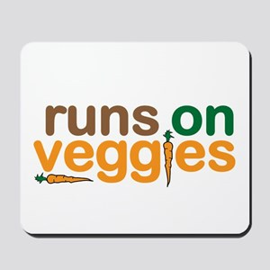 Runs on Veggies Mousepad