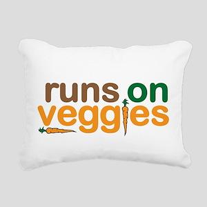 Runs on Veggies Rectangular Canvas Pillow