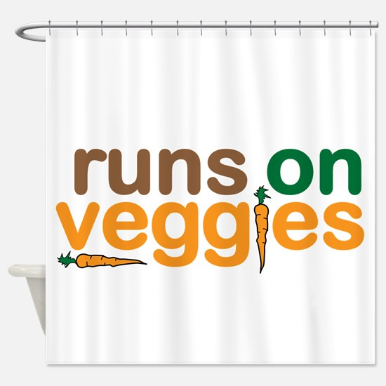 Runs on Veggies Shower Curtain