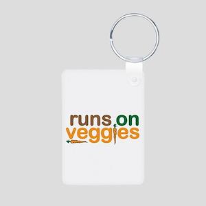 Runs on Veggies Aluminum Photo Keychain