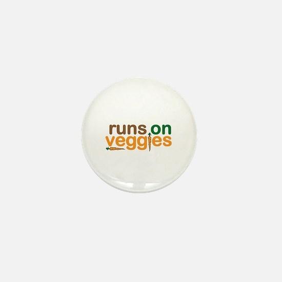 Runs on Veggies Mini Button
