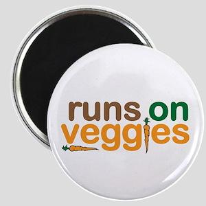 Runs on Veggies Magnet