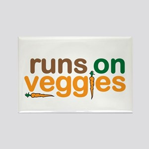 Runs on Veggies Rectangle Magnet