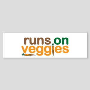 Runs on Veggies Sticker (Bumper)