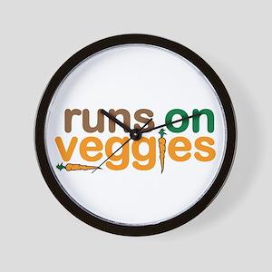 Runs on Veggies Wall Clock