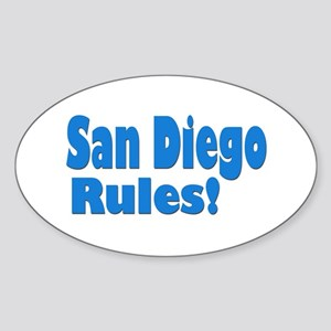 San Diego Rules! Oval Sticker