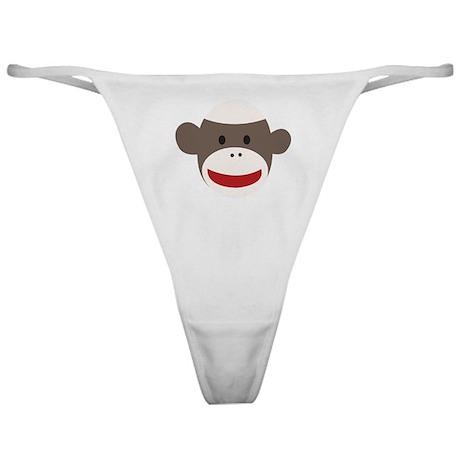 Sock Monkey Face Classic Thong