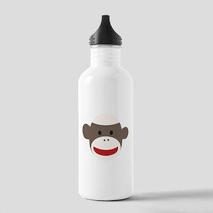 Sock Monkey Face Stainless Water Bottle 1.0L