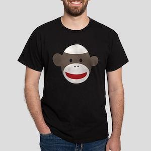 Sock Monkey Face Dark T-Shirt