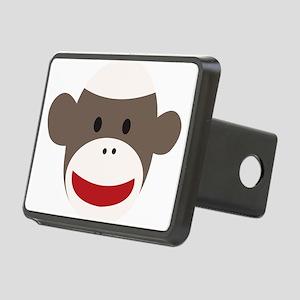 Sock Monkey Face Rectangular Hitch Cover