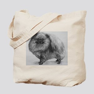 Pomeranian Dog - Black Tote Bag
