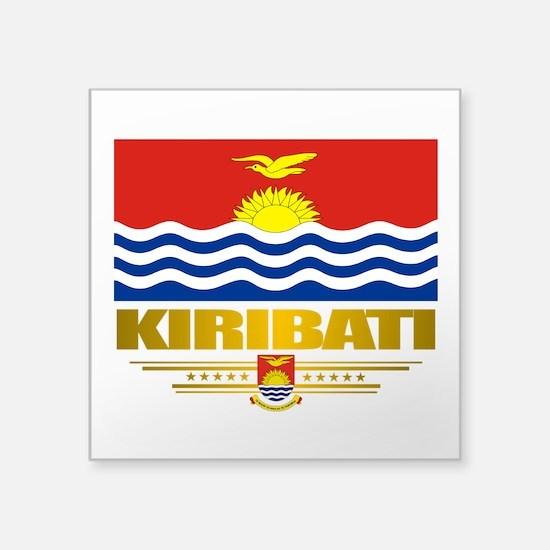 """Kiribati (Flag 10)2.png Square Sticker 3"""" x 3"""""""