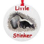 Little Stinker (Baby Skunk) Round Ornament