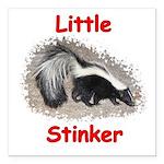 Little Stinker (Baby Skunk) Square Car Magnet 3