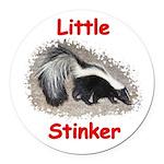 Little Stinker (Baby Skunk) Round Car Magnet