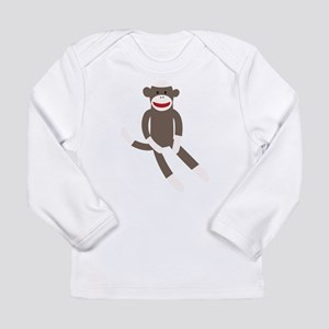 Sock Monkey Long Sleeve Infant T-Shirt