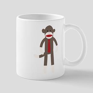 Red Tie Sock Monkey Mug