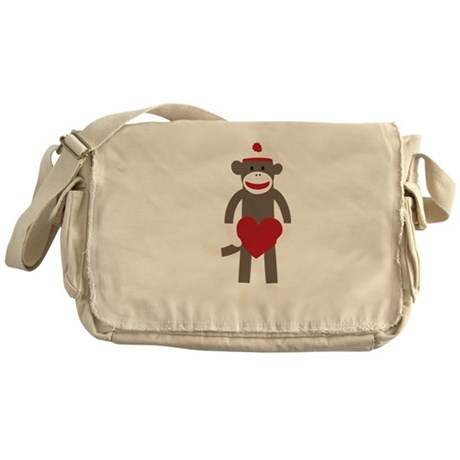 Valentine Monkey Messenger Bag
