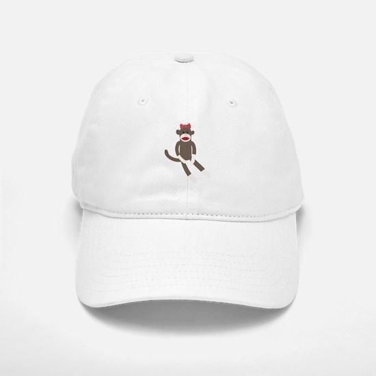 Polka Dot Sock Monkey Baseball Baseball Cap