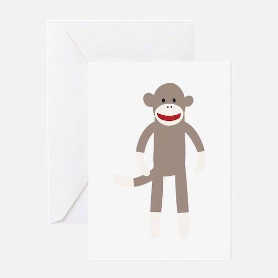 Happy Sock Monkey Greeting Card
