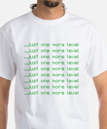One more level White T-Shirt